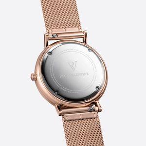 Paul Valentine Jewelry Rose Gold Seashell Mesh 36mm Watch Poshmark